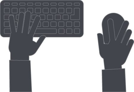 light-gray-typing-hands